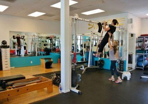 Training at the Gym in SWERVE Studio LA